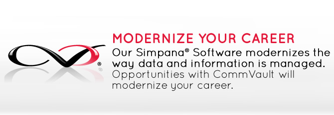 CommVault Core Values - Modernize Your Career.