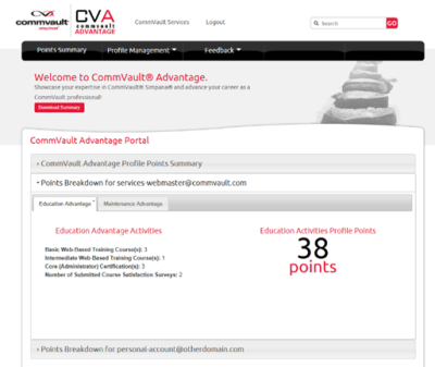 CommVault Advantage Education Activities