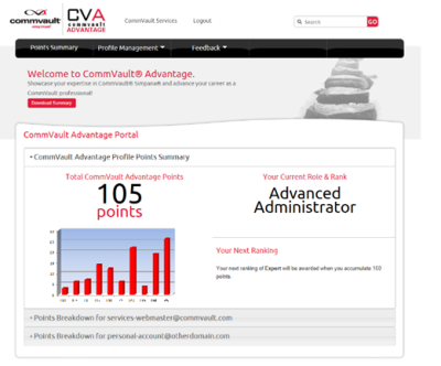 CommVault Advantage Portal