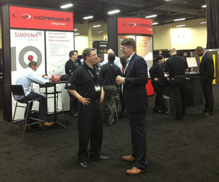 The CommVault Team in Action at PEX 2013.