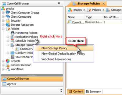 Creating a new Storage Policy for Parallel Deduplication
