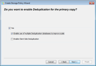 Designate this Storage Policy for Parallel Deduplication