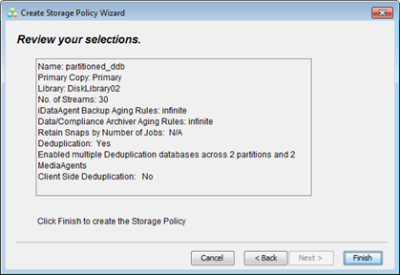 Storage Policy Configuration Review
