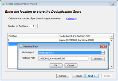 Select Number of Deduplication Database Nodes