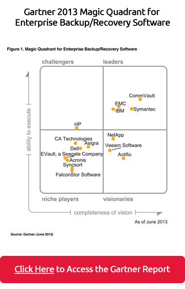 2013 Gartner Report for Enterprise Backup/Recovery Software