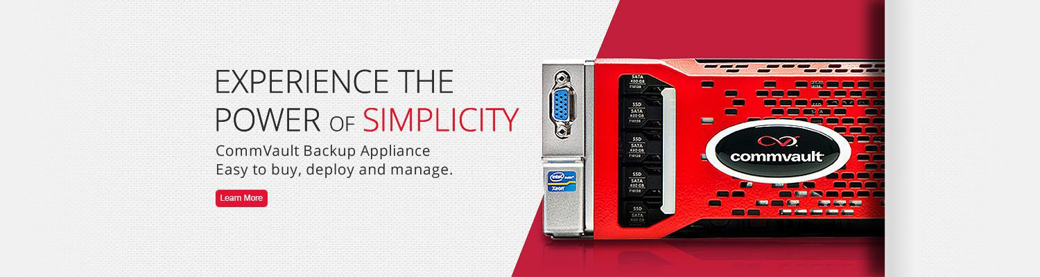 CommVault Appliance mit NetApp
