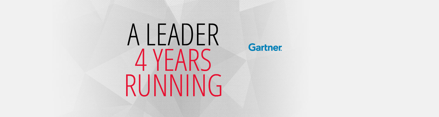 Leader in Gartner Magic Quadrant
